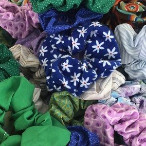 Other - Hair tie lot scrunchie scrunchies Choose 4 colors